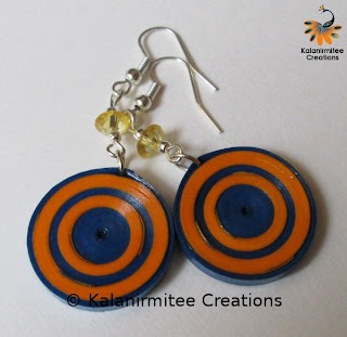 kalanirmitee: paper quilling-quilled earrings