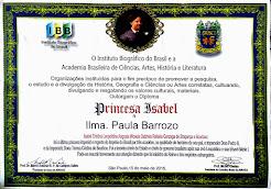 PAULA BARROZO - Diploma Princesa Isabel - ABRASCI e Inst. Biográfico do Brasil