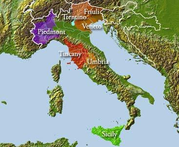 Main Wine Regions of Italy