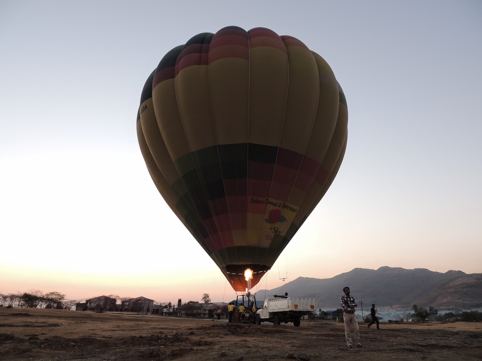 Hot Air Balloon ready to take off