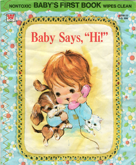 ismoyo's vintage playground: vintage Whitman childrens book Baby Says Hi