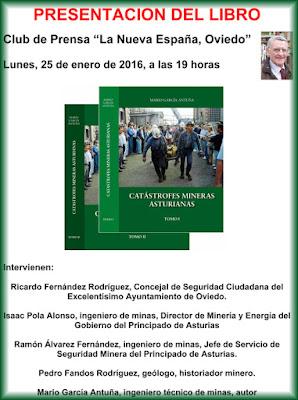 Presentación libro Catástrofes mineras asturianas