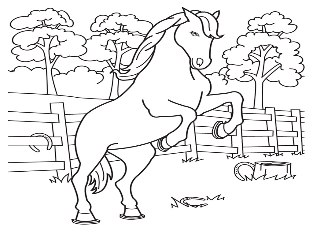 Coloring pages horse coloring pages free and printable for Horse coloring pages printable free