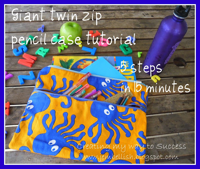 Giant Twin Zip Pencil Case
