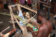 Ghana, Kente weaver