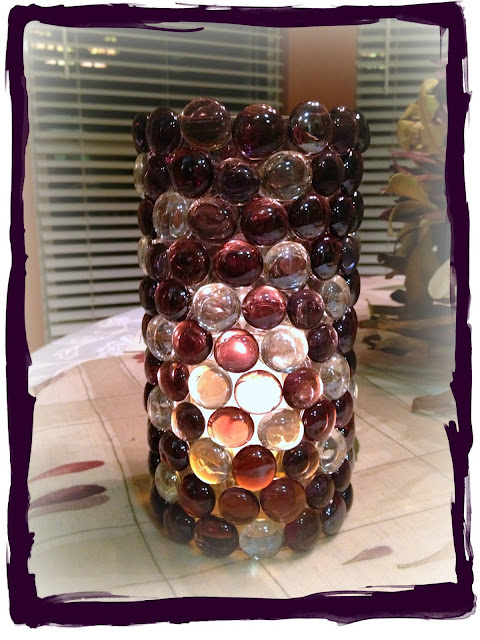 Glass Gem Candle Holder by Crafty In Crosby