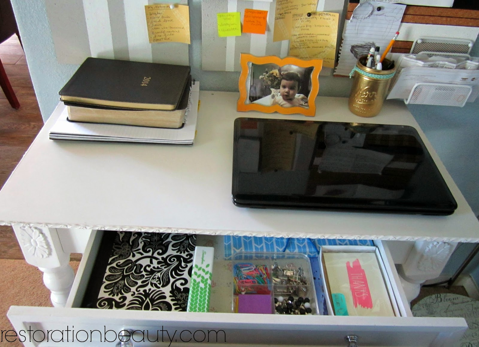 Organizing Office Space. Restoration Beauty: How To Organize A Small Office/work  Space