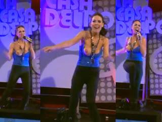 Laura Miller mostra o seio em directo