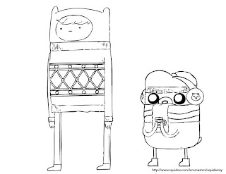 Adventure time coloring pages christmas