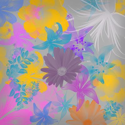 46 pinceles de flores en alta resolución