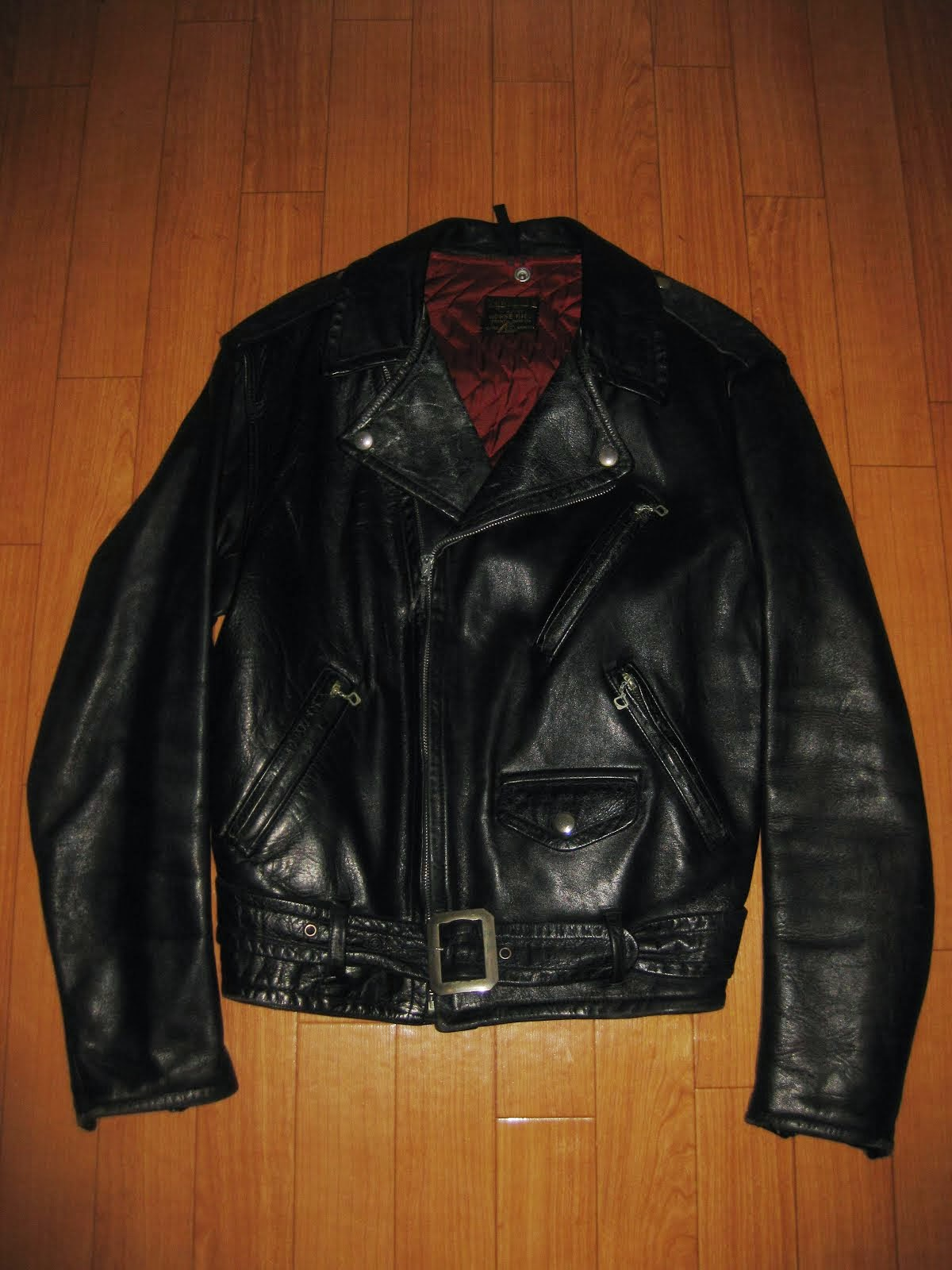 early 50's PERFECT W-BREST LEATHER JACKET