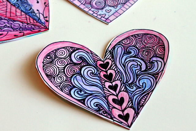 Punk Projects Zentangle Valentines DIY