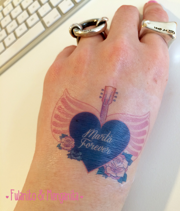 Tatuaje temporal personalizado para la despedida de soltera