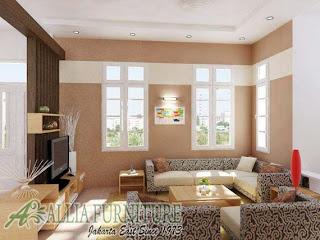 interior pelengkap ruang tamu mungil minimalis