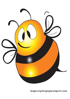 abeja grande para imprimir