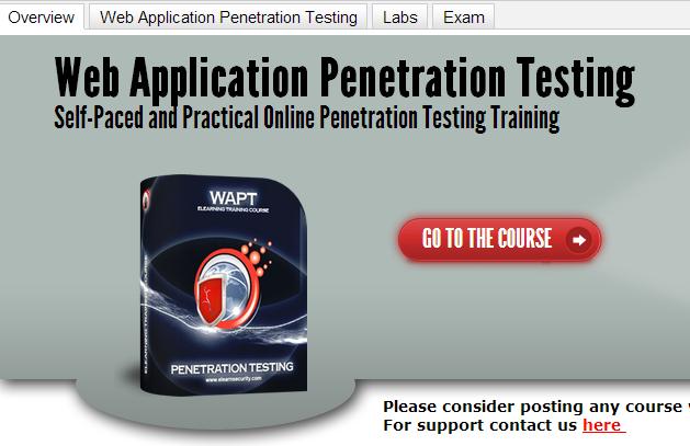 web application penetration testing course