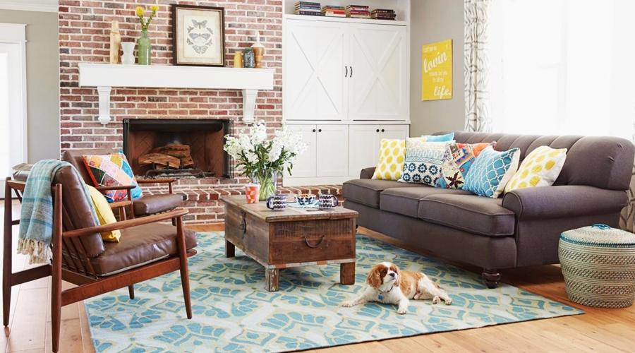 wystrój wnętrz, wnętrza, urządzanie mieszkania, dom, home decor, dekoracje, aranżacje, styl amerykański, american style, colorful accessories, kolorowe dodatki, vintage, salon, kuchnia