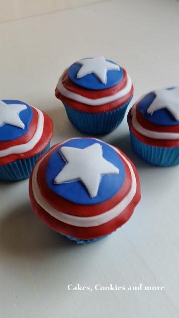 Captain Americ Cupcakes