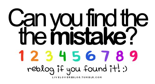 Can You Find The Mistake!