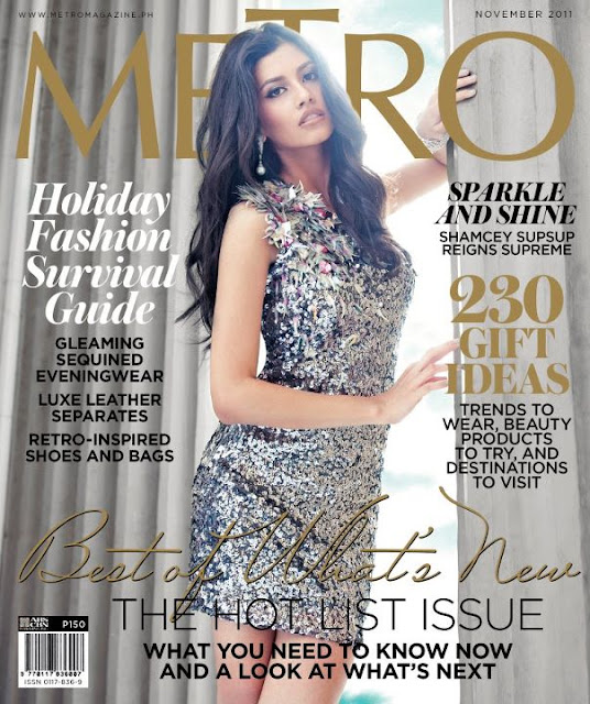 Shamcey Supsup - Metro Magazine's Cover Girl