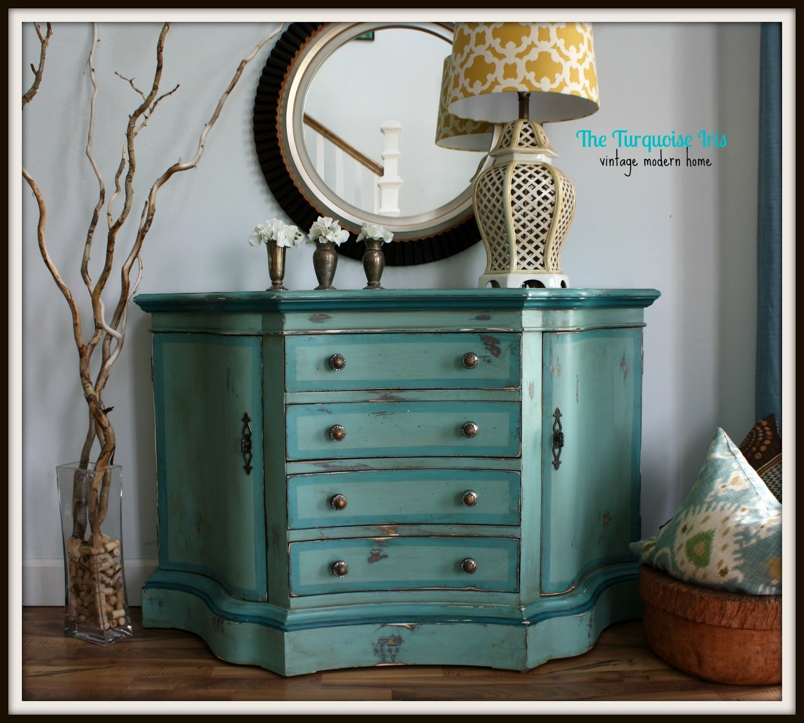 The Turquoise Iris Furniture & Art Teal Blue & Green