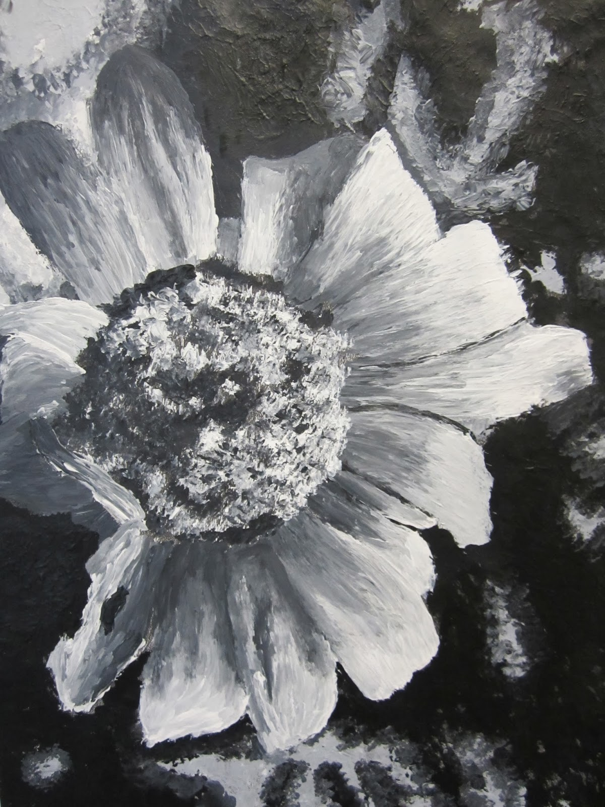 Art At Beaumont School Yr 10 Gcse Art Black And White Painting