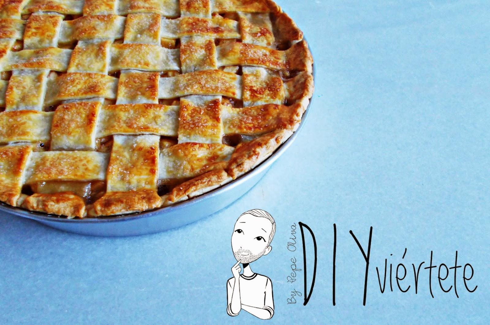 Receta-cocina-postre-reposteria-tarta de manzana-apple pie-pie de manzana-canela-fruta-1