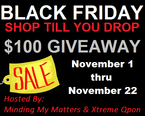 Black Friday Button $200 Visa Gift Card Giveaway