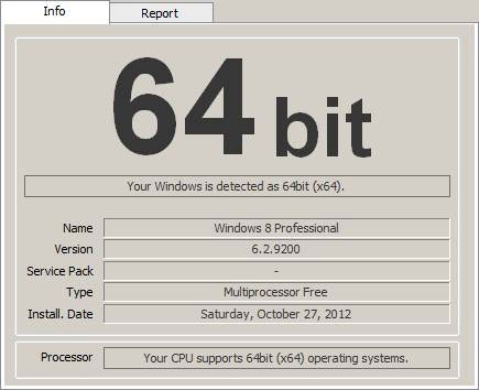 Windows 64 bits checker