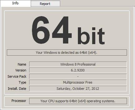 Windows 64 bits checker