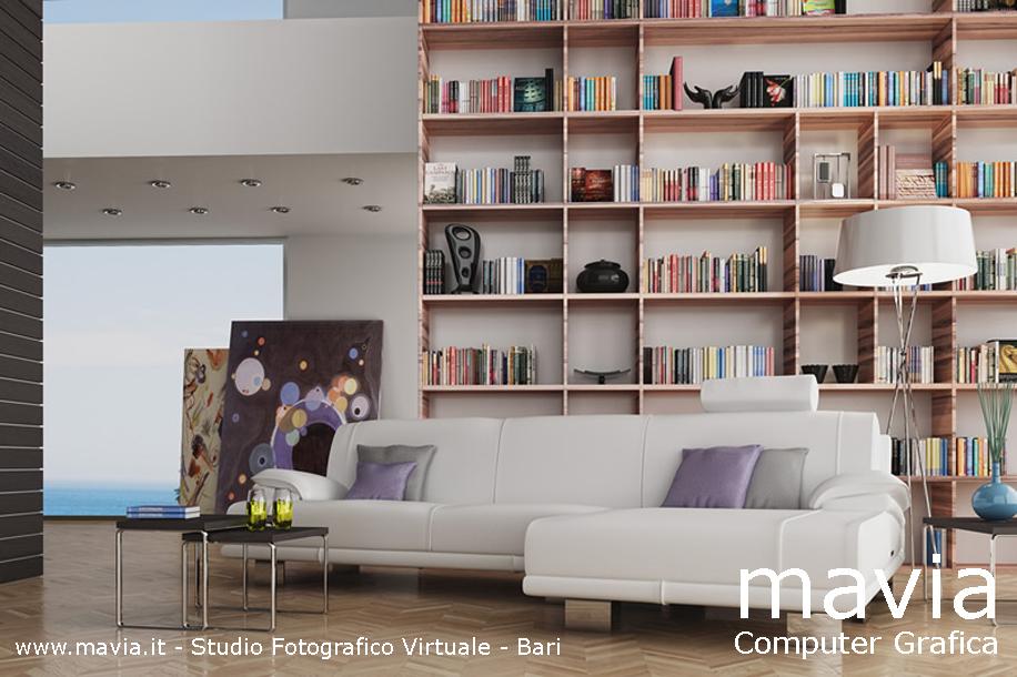 Salotto Di Lusso Con Camino Interior Design: Architettura interni foto ...