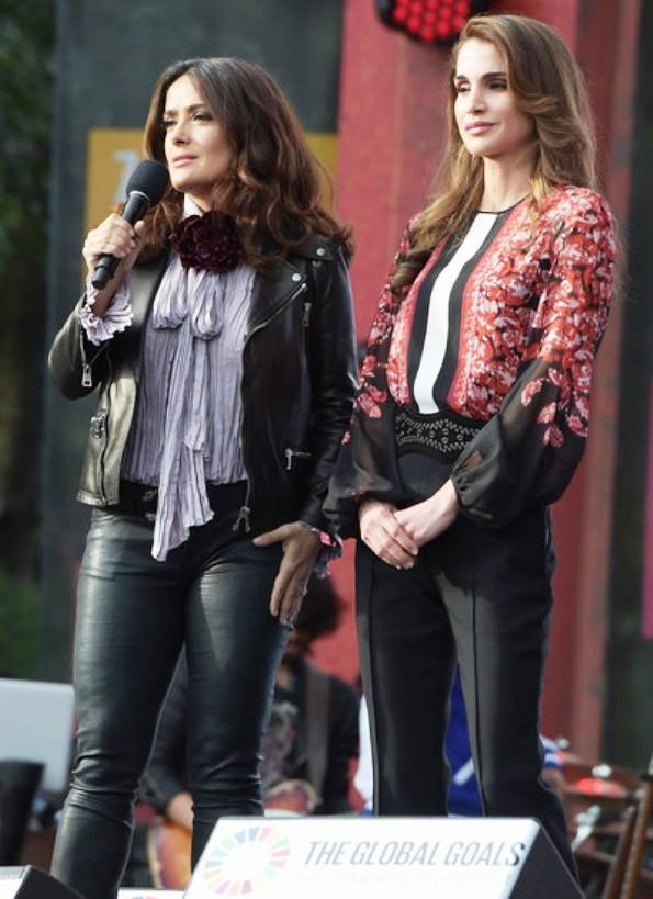 Queen Rania In Giambattista Valli At The 2015 Global Citizen Festival