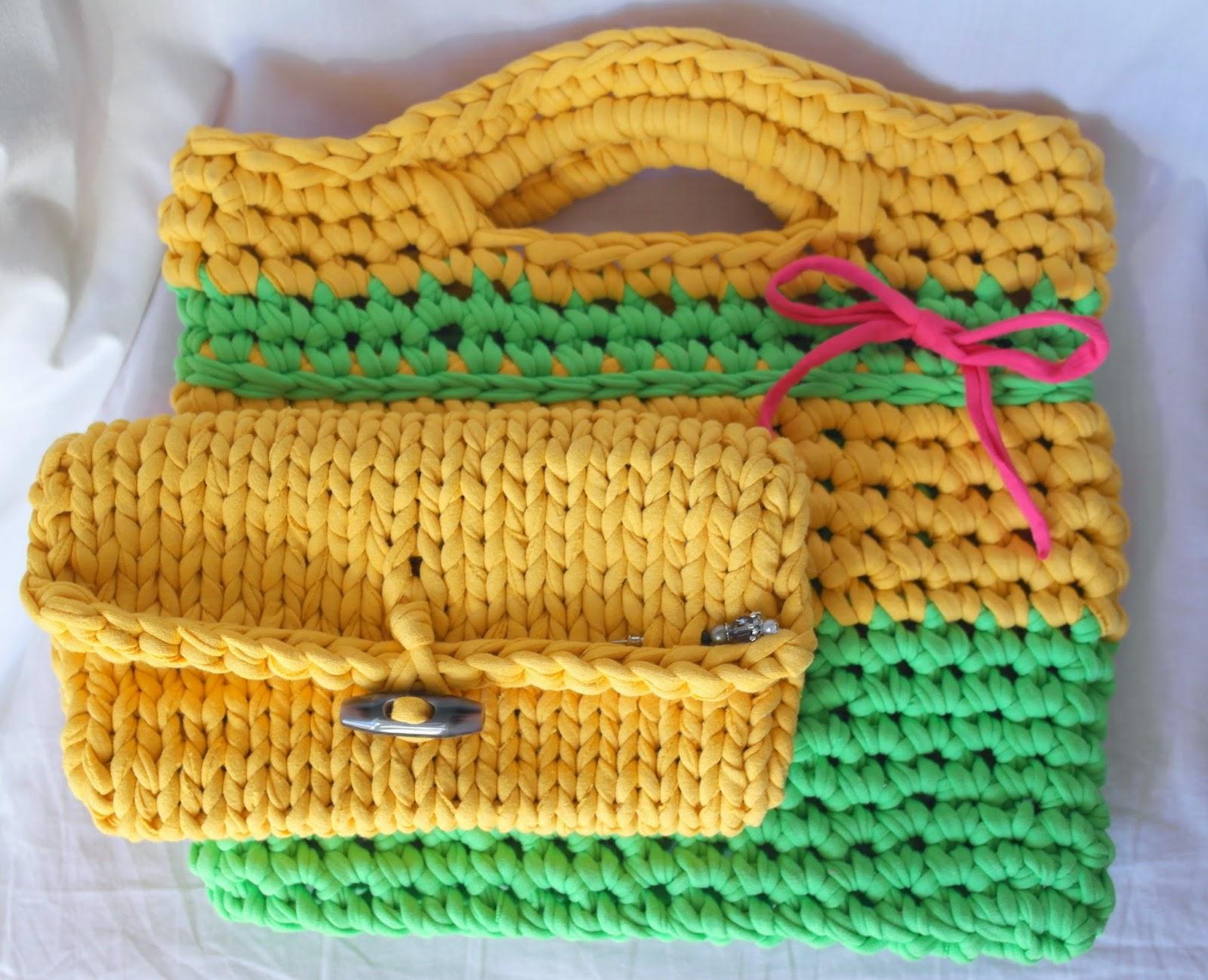 Вязание пряжей макароны 14