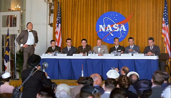 Introducing the Mercury astronauts in The Right Stuff