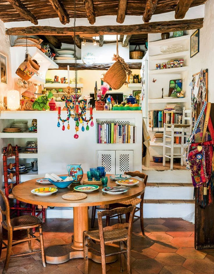 Moon to moon the kitchen table for Bohemian kitchen decorating ideas