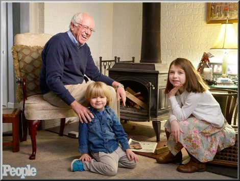 Bernie Sanders with his grandchildren.