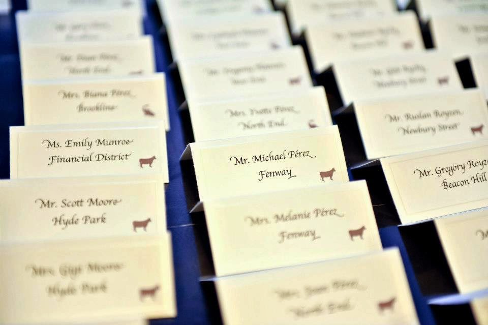 March B Loved Boston - Place cards with meal choice template