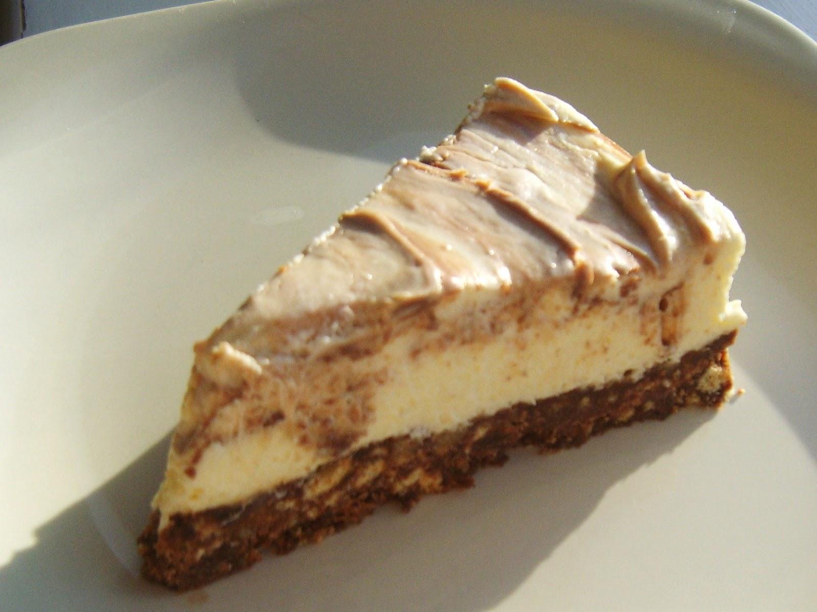 my handcrafted home no bake chocolate swirl cheesecake
