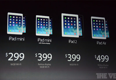 Apple unveiled Ipad Air and iPad mini with Retina display 12