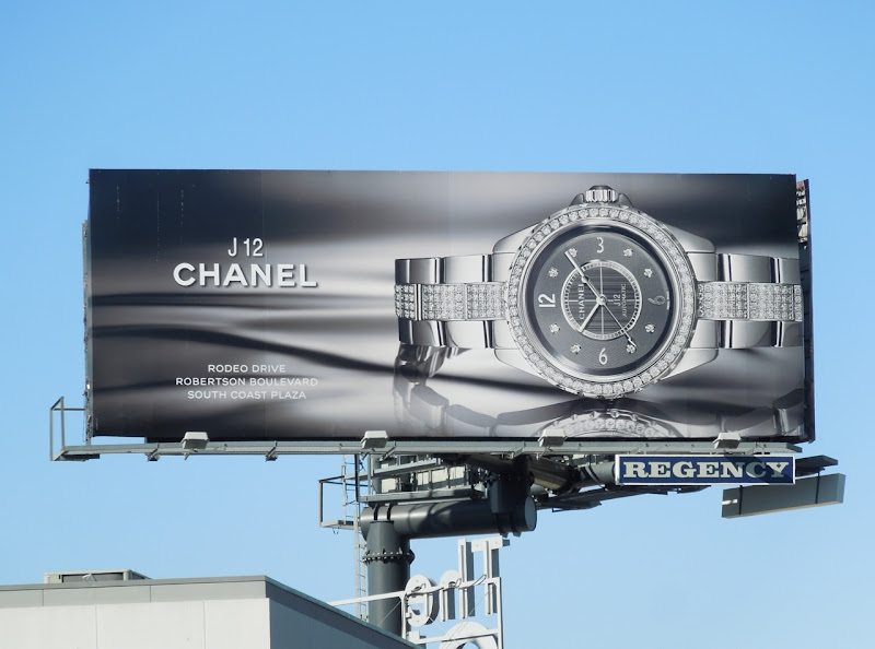 Chanel J12 watch billboard