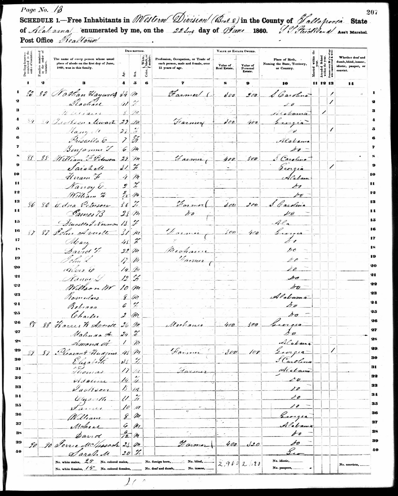 here is a transcription of the 1860 information relevant to david s family