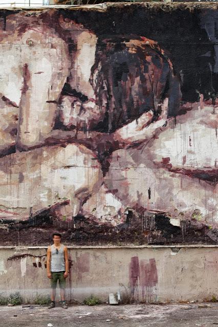 """Piedad"" New Street Art Piece By Borondo On the streets of Rome, Italy. 3"