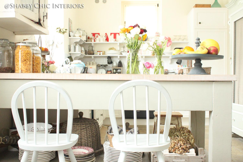 Shabby chic interiors trasformazione in cucina - Colori pareti cucina shabby chic ...