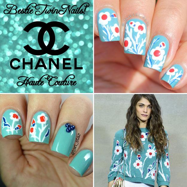 Bestie Twin Nails Falguni_nails Twi_star chanel inspired