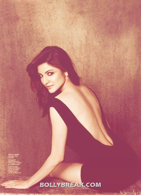Anushka sharma Bending showing her Hot Back in this backless dress - Flashback : Backless Anushka sharma from Maxim