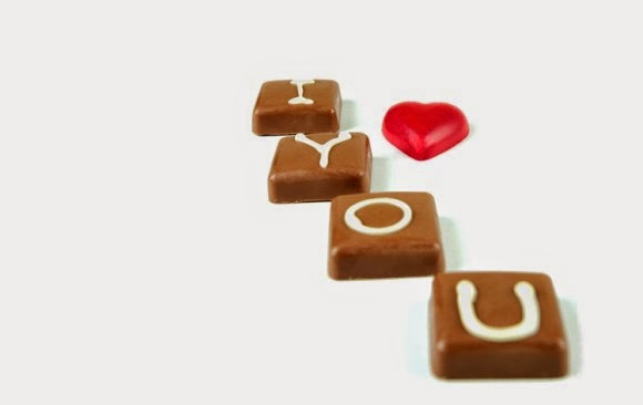 Valentine's - Homemade chocolate with personalised detailing