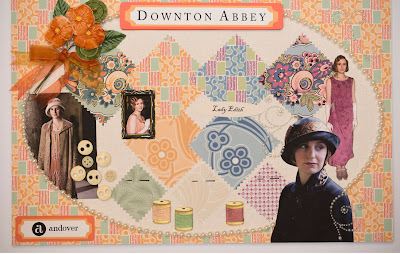 Lady Edith Fabrics from Downton Abbey for Andover