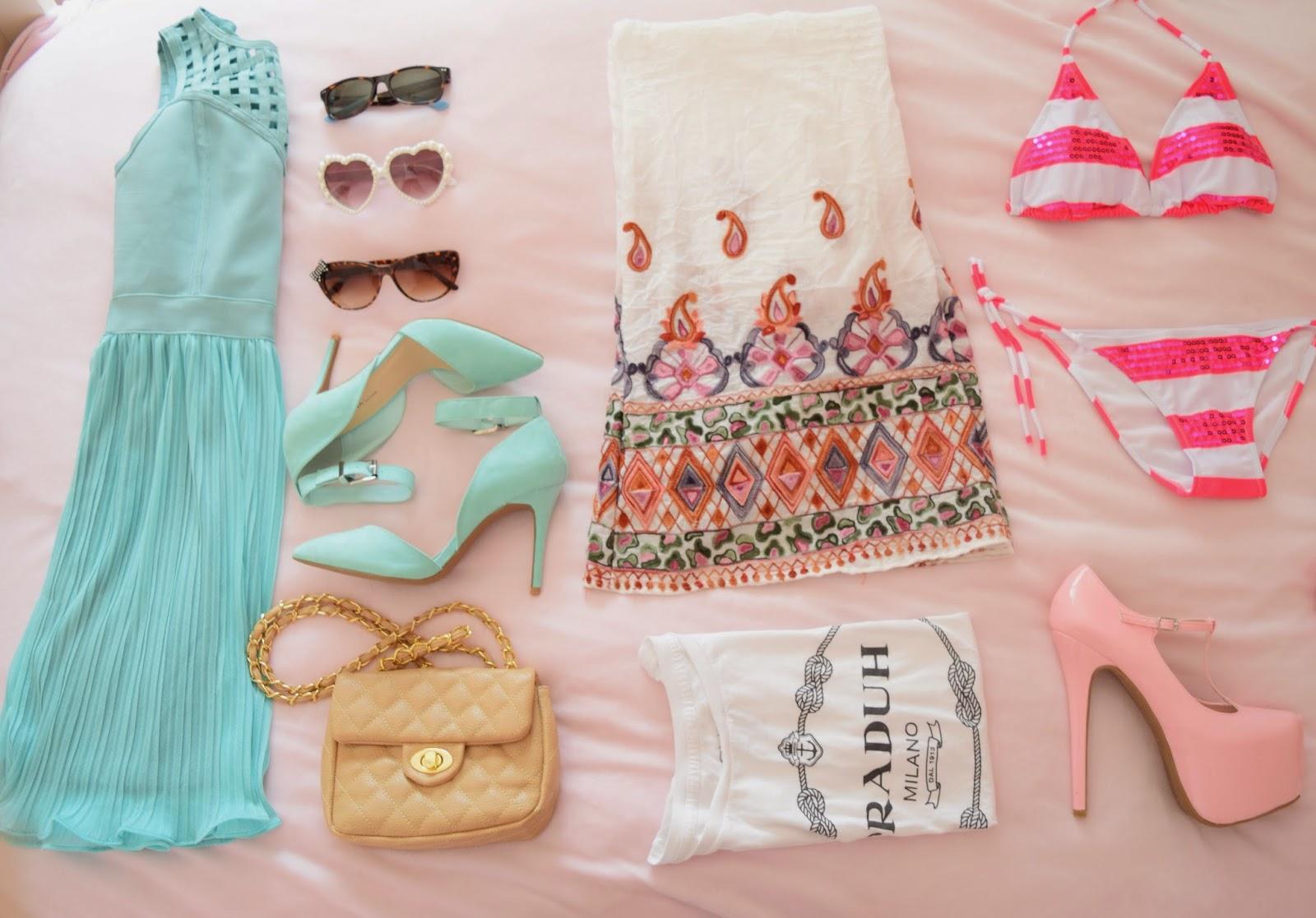 miami fashion week, bikini, sunglasses, high heels, accessories, girly