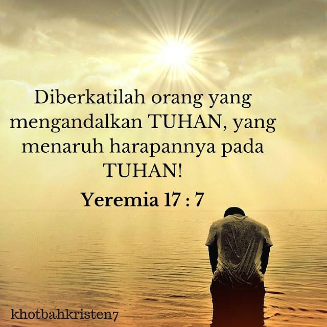 diberkatilah orang yang mengandalkan Tuhan