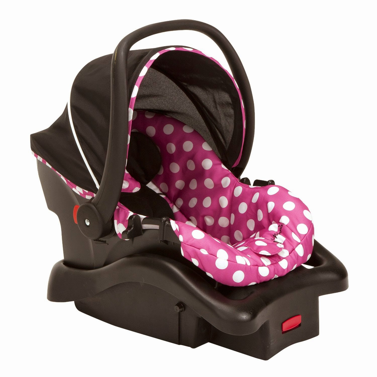 all things children  disney baby minnie mouse light n comfy luxe infant car seat  minnie dot